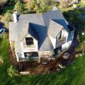Photo aerienne maison vue par drone 1