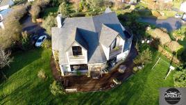 Photo aérienne maison vue par drone