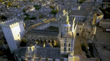 Photo aerienne palais des papes avignon