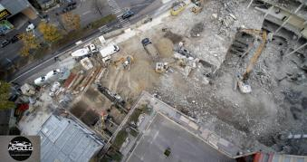 Photo aérienne par drone chantier Bagnolet proche Paris région Parisienne