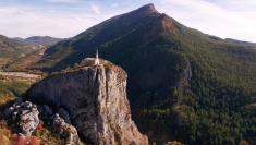Photo aérienne par drone chapelle notre dame du roc