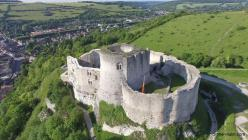 Photo aerienne par drone chateau gaillard 1 les andelys eure normandie