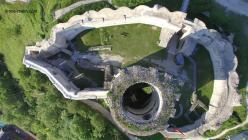Photo aerienne par drone chateau gaillard 12 les andelys eure normandie