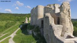 Photo aérienne par drone château Gaillard Les Andelys dans l'Eure