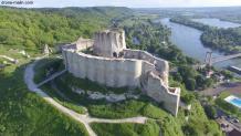 Photo aérienne par drone château Gaillard 8