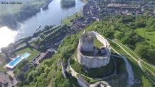 Photo aérienne par drone château gaillard 9
