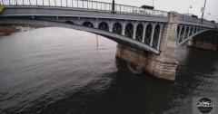 Photo aérienne par drone d inspection de pont a asnieres sur seine