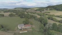 Photo aérienne par drone dans la Nièvre