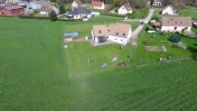 Photo aérienne par drone de maison