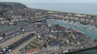Photo aerienne par drone dieppe normandie