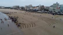 Photo aérienne par drone les sables d Olonne