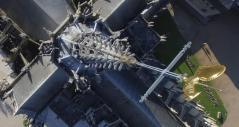 Photo aérienne par drone pour visite virtuelle de monument
