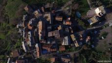 Photo aerienne par drone village corse olmeta di tuda