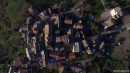 Photo aérienne par drone village corse Olleta-di-tuda