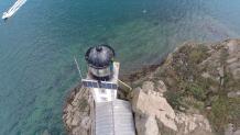 Photo aérienne phare breton en Bretagne