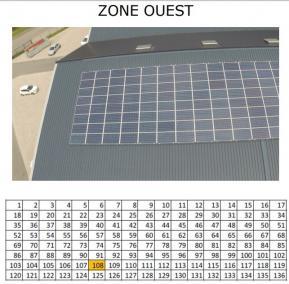 Photo aérienne pour rapport de thermographie panneaux solaire