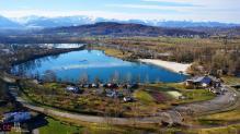 Photo aérienne proche de Pau dans les Pyrènes Atlantiques