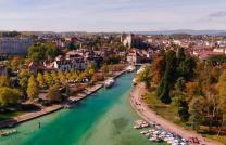 Photo Annecy en vue aérienne par drone