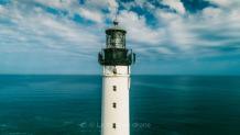 Photo d un phare prise par drone en Nouvelle Aquitaine
