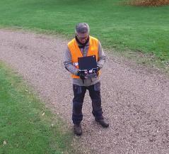 Photo d un pilote de drone