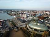 Photo de Bordeaux en vue aérienne par drone du ciel de la Gironde
