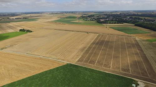 Photo de paysage agricole vue par un drone