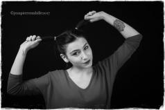 Photo de portrait en noir et blanc par photographe