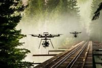Photo drone Freefly Alta 8 pendant tournage cinématographique