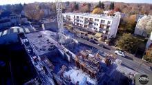 Photo par drone de suivi de chantier