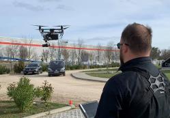 Photo pilote de drone en action