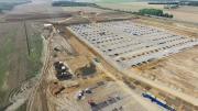 Photo suivi chantier par drone vue d ensemble des travaux
