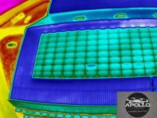 Photo thermique en drone inspection des panneaux photovoltaiques apollo