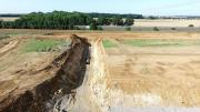 Photographie aérienne par drone de suivi de chantier a douains Eure 27