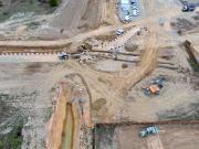 Photographie aérienne par drone de suivi de chantier de terrassement en Normandie