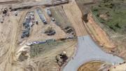 Photographie aérienne par drone de suivi de chantier de terrassement