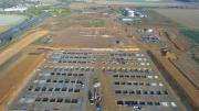 Photographie aérienne par drone de suivi de chantier en Normandie