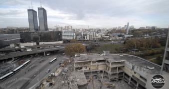 Photographie aérienne chantier Bagnolet Seine-Saint-Denis