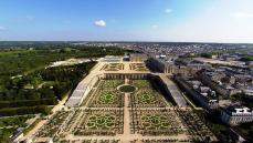 Photographie aérienne château de Versailles dans les Yvelines