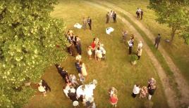 Photographie aerienne d un mariage par drone