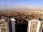 Photographie aerienne d une ville par drone