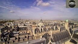 Photographie aérienne de l université de la Sorbonne à Paris