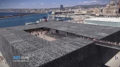 Photographie aérienne de Marseille le musée