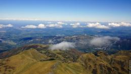 Photographie aérienne des Pyrènes en région Occitanie