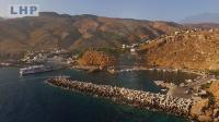 Photographie aérienne en bord de mer