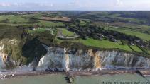 Photographie aérienne falaises en Normandie par drone