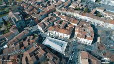Photographie aérienne ville de Ganges Languedoc Roussillon France