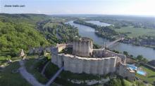 Photographie aérienne par drone château gaillard Eure Normandie
