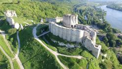 Photographie aerienne par drone chateau gaillard