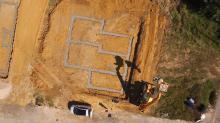 Photographie aérienne par drone d un chantier