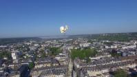 Photographie aérienne par drone du coq de la cathédrale